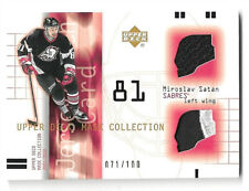 2001-02 UPPER DECK MASK COLLECTION - MIROSLAV SATAN - JERSEY & 2 COLOR PATCH