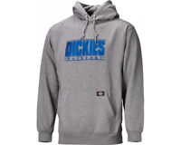 Dickies Sanford Hoodie (SH3004) in Grey with Blue Embroidery Medium to 3XL