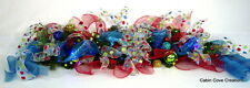 Christmas Holiday Mantel Garland Swag with Lights red blue lime green turquoise