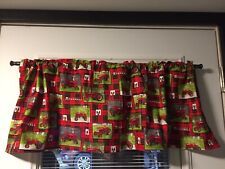 Red Tractor Farmall Window Valance Handcrafted