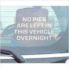 N ° Pies quedan en este vehículo overnight-adhesive Vinilo sticker-car, furgoneta, camioneta