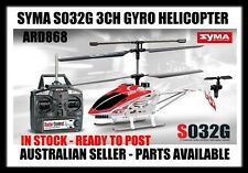 NEW - RC SYMA S032G 3CH GYRO HELICOPTER - AUSTRALIAN SELLER - AUS STOCK -