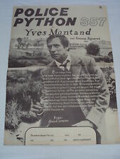 w2 W/2/14 DDR Filmplakat Filmposter Police Python 357 Yves Montand Sim. Signoret