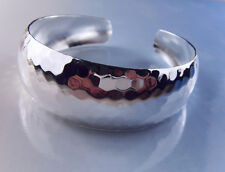 Fashion Jewelry Open Adjustable Silver Plated Bright Wide Cuff Bangle Bracelet