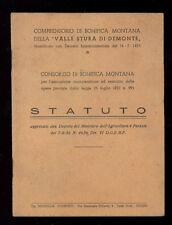 CONSORZIO DI BONIFICA MONTANA VALLE STURA DI DEMONTE STATUTO 1956 CUNEO PIEMONTE