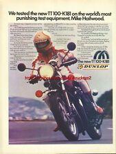 Dunlop Tyres TT100-K181Motorcycle 1980 Magazine Advert #1043