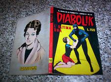 DIABOLIK ANNO V N.14 ORIGINALE 1966 OTTIMO TIPO NERI KRIMINAL SATANIK KILLING