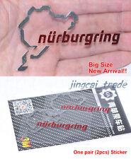 Big Size Pair (2 pcs) Polished Chrome Nurburgring Motor Sport Car Sticker Decal