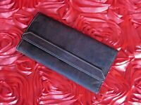 Durable trifold leather  wallet - purse/clutch