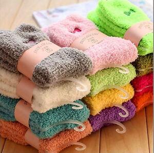 3/6/12  Ladies Women Girls Soft Fluffy Socks Warm Winter Cosy Lounge Bed Socks