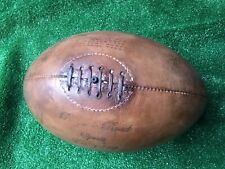 More details for honey tan vintage 1920's style genuine leather rugby ball with defects