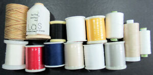 14x Machine Sewing THREAD SUPERIOR/YLI/DMCA&E/LACIS 40/50wt+more cottons-ZZ364
