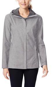 32 DEGREES SIZE: LARGE Women's Rain Jacket Coat Weatherproof Color: gray