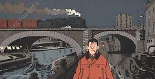 Affiche TARDI Nestor Burma Paris 19ème arrondissement 25x50 cm
