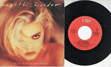 EIGHT WONDER disco 45 giri MADE in ITALY 1987 Will you remember PATSY KENSIT