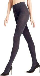 Falke 237889 Womens Softmerino Opaque Tights Wool Blue Size 38-40 (S/M)