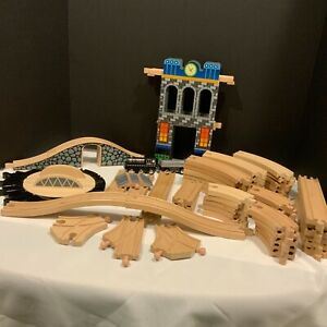 50 + Pc. Thomas the Train Wooden Train Compatible Track  Bridge Tower Turntable