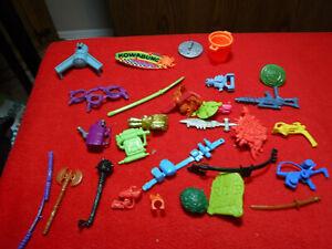 Vintage Teenage Mutant Ninja Turtle Playmates Weapons & Accessories Lot See Pics