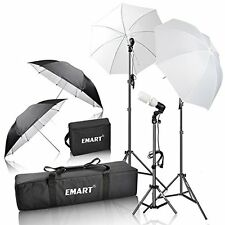 Photography Umbrella Continuous Lighting Kit Photo Studio Light Stand Holder New