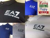 Emporio Armani EA7 Short Sleeve Men's jersey Polo Neck Tops T-Shirts Tees RRP£65