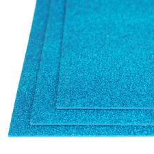 Self-Adhesive Glitter EVA Foam Sheet, 8-Inch x 12-Inch, 3-Piece, Light Blue