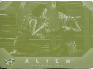 Upper Deck Alien Anthology Base Card Printing Plate #82 (Yellow)