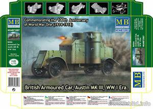Master Box 1/72 WWI British Armoured Car Austin MK III - 100th Anniversary