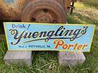 1930's Yuengling Porter Embossed Tin Tacker Sign Pottsville PA Bar Tavern Beer
