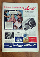 1938 Camel Cigarette Ad Ione Reed Movie Stunt Girl 1938 Four Roses Whiskey Ad