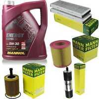 Inspektionspaket 5L MANNOL Energy CombiLL 5W30 Motoröl + MANN Filterset 10774895