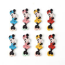 10 Botones Madera Minnie Mouse-Craft-Scrapbook-SEW - tarjetas-Adornos