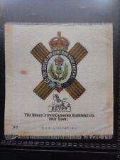 No.25 THE QUUEN'S OWN CAMERON HIGHLANDERS 79TH - Godfrey Phillips BDV Silk 1914