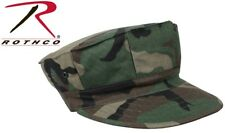Woodland Camouflage Military Style Marine & Navy 8 Point Cover Fatigue Hat 5633