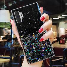 F Samsung Galaxy S20 Note 10 Plus S10+ Bling Glitter Clear Cute Phone Case Cover