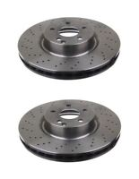 Vented Front Brake Disc For Mercedes-Benz S-Class, pack of 2 Left & Right Side