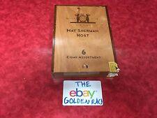 NAT SHERMAN HOST Empty CIGAR BOX For 6 Cigar Assortment  Ex.Cond. Sliding lid