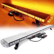 "50"" Inch LED Amber Emergency Beacon Warn Strobe Rooftop Tow/Plow Truck Light Bar"