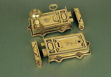 Antique Solid Brass Davenport Door / Rim Lock