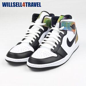 Nike Air Jordan 1 Mid SE Heat Reactive White Black Men's Size 7.5 DM7802-100 New