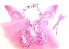 déguisement petite Princesse jupon couronne et ailes de fée baguette magique