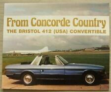 BRISTOL 412 (USA) CONVERTIBLE Car Sales Brochure c1979