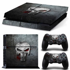 Punisher Skull Grey  Decal Skin Sticker for PlayStation 4 Console 2 Controler