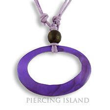 Hübsche Halskette Halsband Kette Lila Echt Muschel Design N209