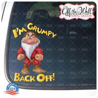 I'm Grumpy Back Off! Color Vinyl Decal Sticker for Cars/Trucks