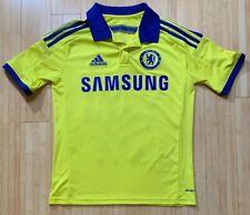 Chelsea Football Club Adidas Samsung Polo Shirt Youth L Yellow & Blue