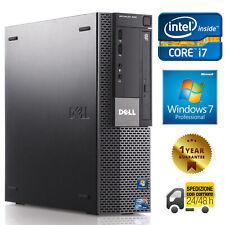 PC DESKTOP COMPUTER RICONDIZIONATO DELL 980 QUAD CORE i7 8GB 500GB WINDOWS 7 PRO