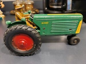 Vintage OLIVER TRACTOR Farm Toy Row Crop 77 Slik Toy 1950's 1/16 scale