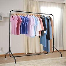 6FT Metall Kleiderständer Belastung Kleiderstange mobiler Garderobenständer
