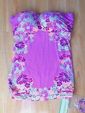 NWT Seafolly Kimono Rose Bandeau Singlet Tankini Top Musk - AU 8/US 4 (F51)
