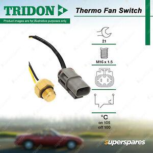 Tridon Thermo Fan Switch for Nissan Patrol GQ Safari Y60 4.2L OHC 12V